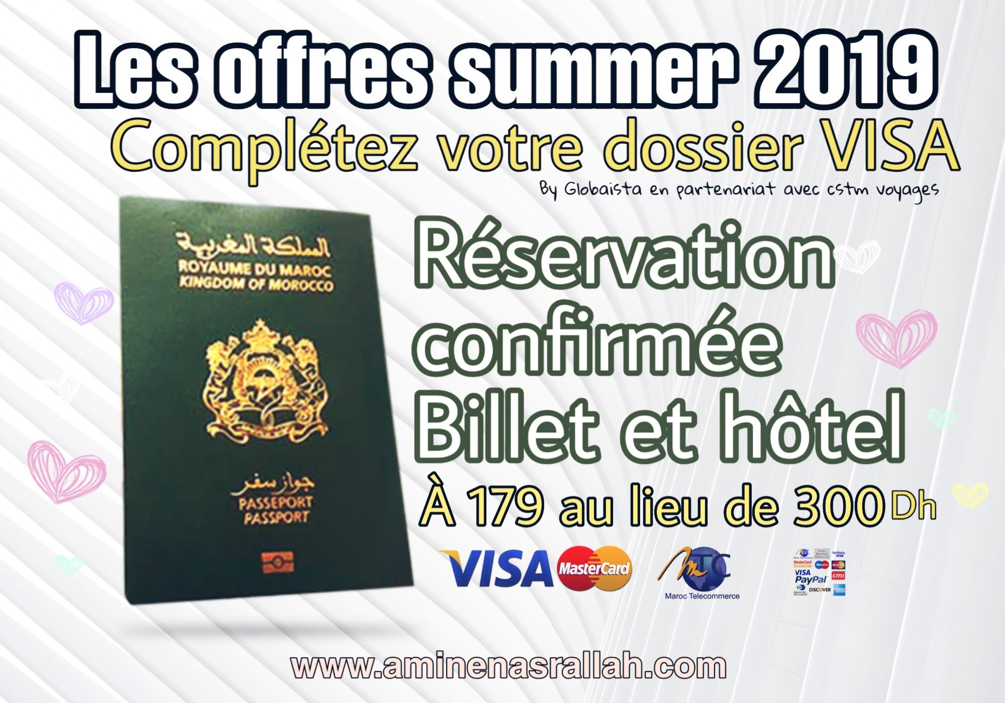 Réservation Confirmée de Billet et Hôtel pour Visa Etudiant et autres.